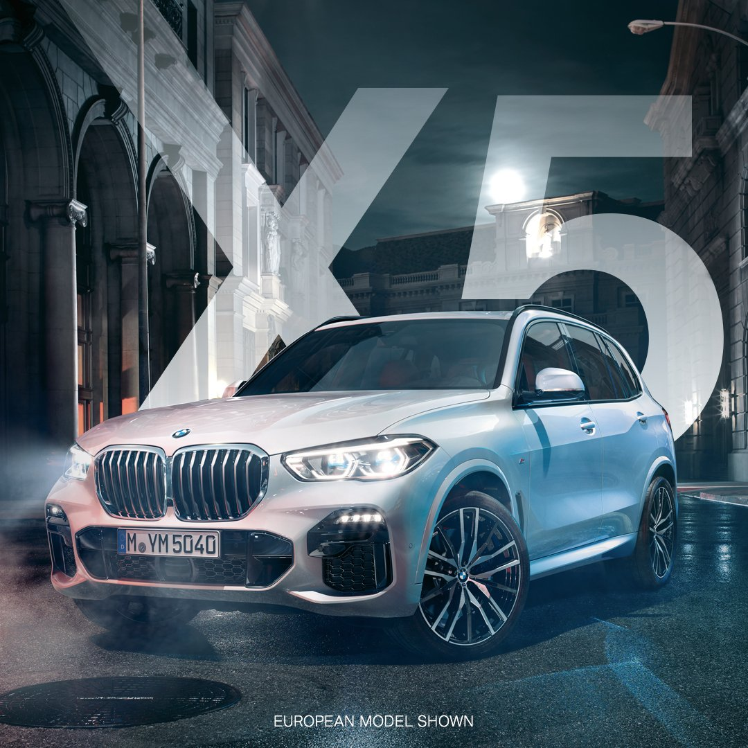 With a reimagined kidney grille and bold exterior design, the All-New BMW #X5 was built for confidence, on and off the road. Learn more: https://t.co/BwnqI3ddZ4 https://t.co/52ORjGsxe2