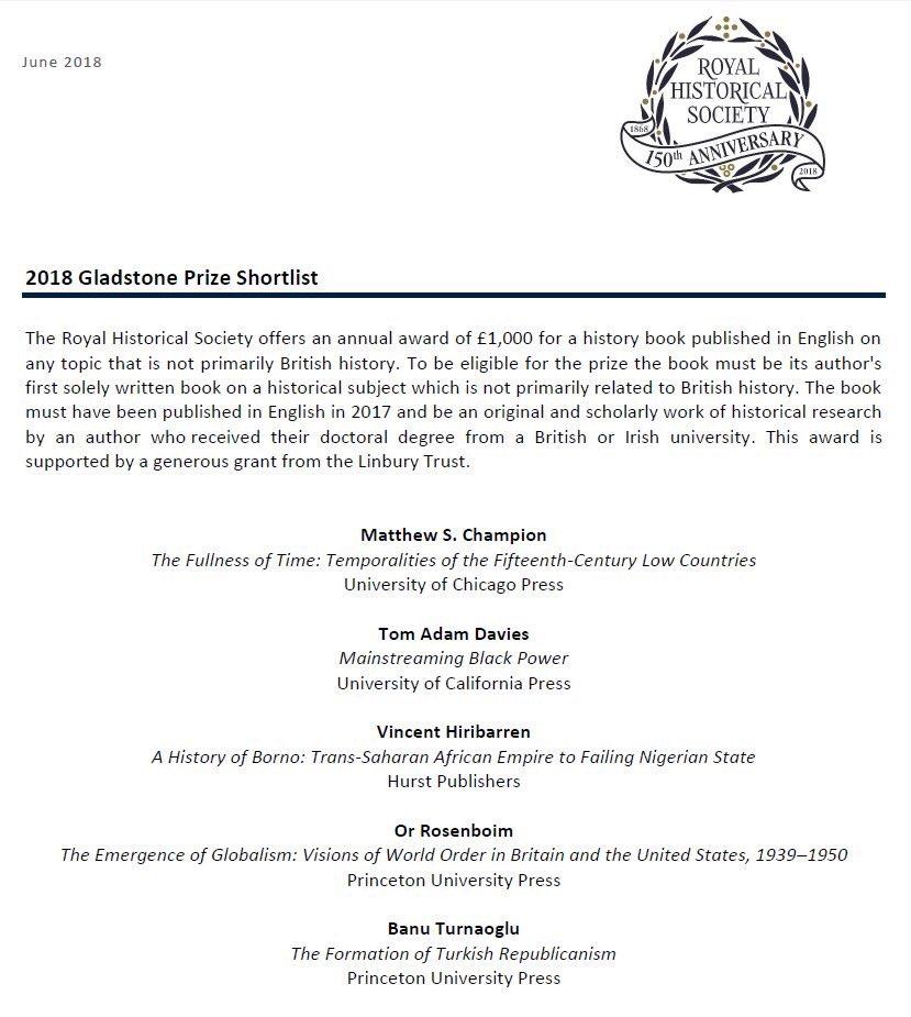 Royal historical society prizes