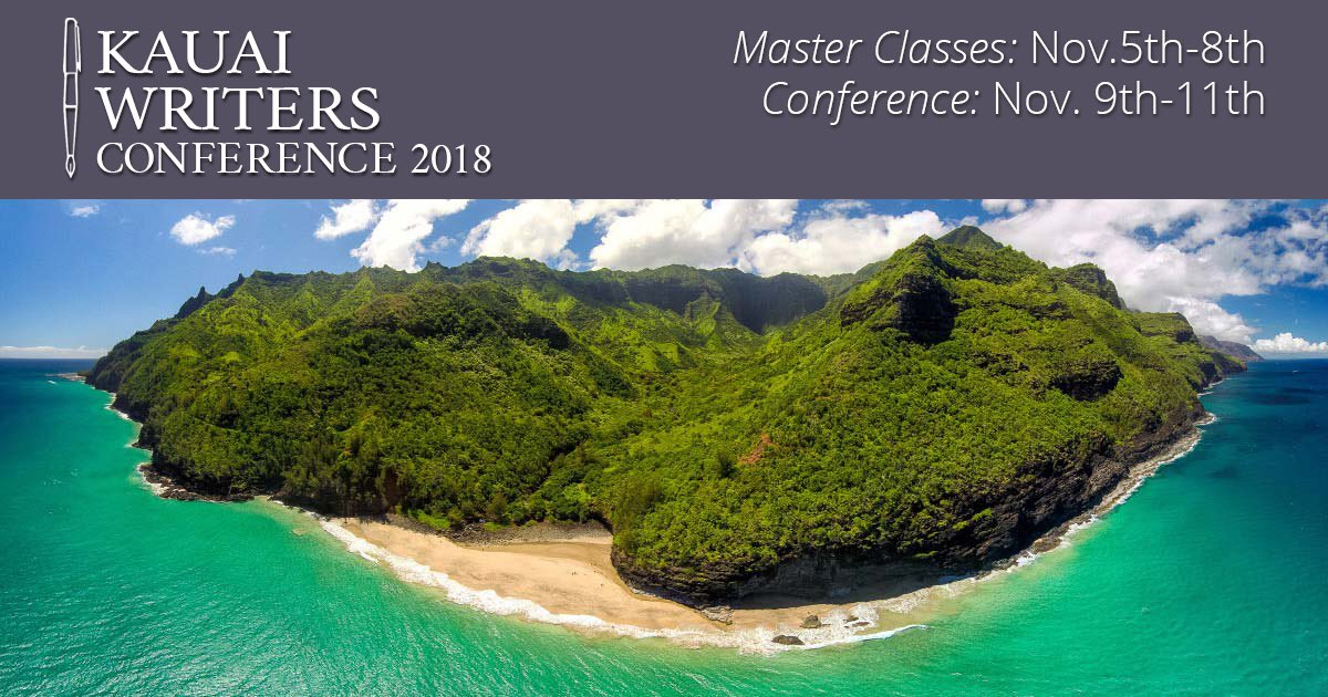 Need an excuse to visit #Hawaii? Join @amyferris & me at the @KauaiWriConf this Nov 2018. We are teaching a master class together - combining WRITING/RIGHTING OUR LIVES + #slippercamp because we all have a story to tell. #writers #writing #tellingyourstory  #amwriting #writelifepic.twitter.com/MRN6muWFIS