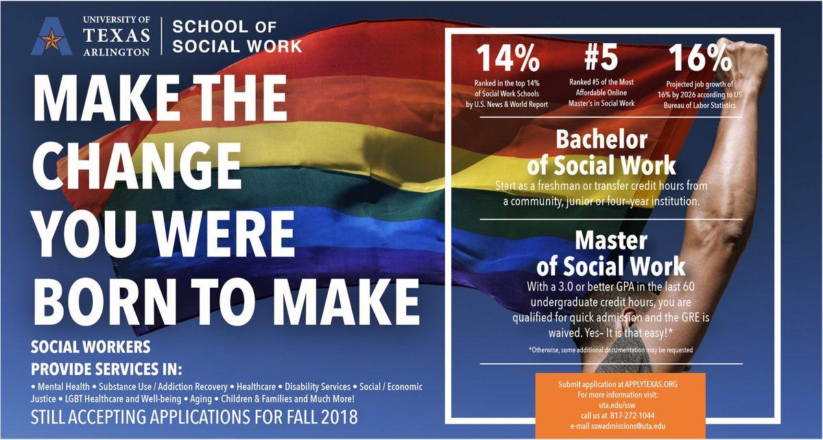 Social Work Degree Online >> Uta School Of Social Work On Twitter Make The Change You