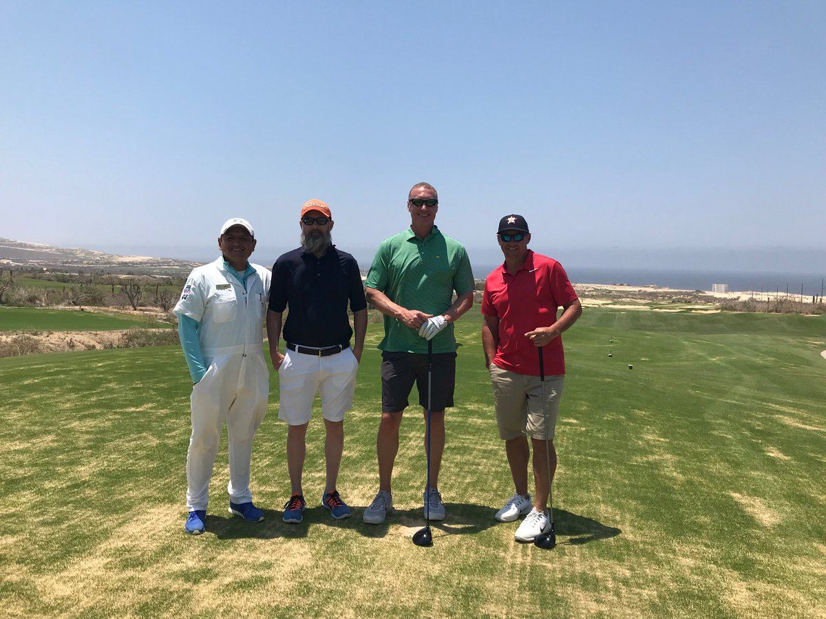 Great two days of golf! If you go to @DiamanteCabo Chris is your caddie! Awesome dude and great teacher! #MasterYoda