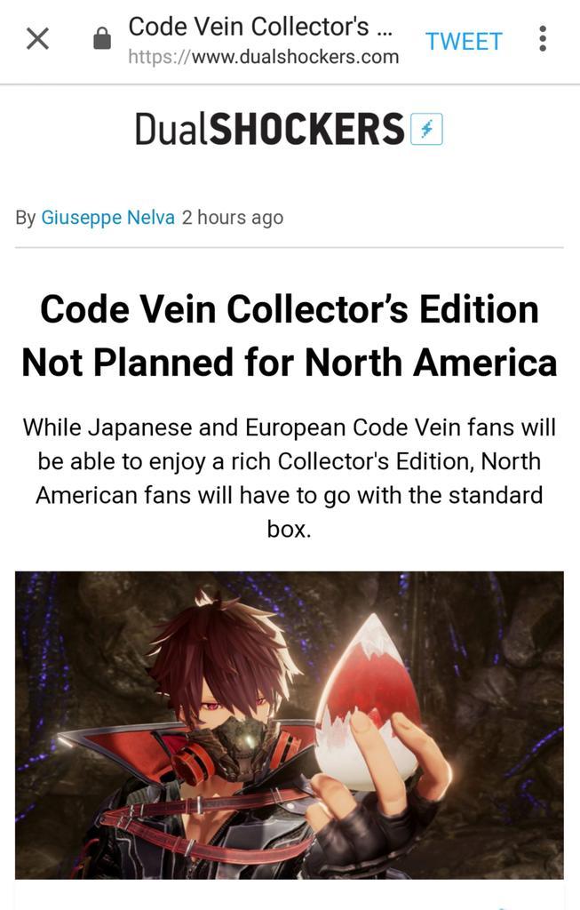 code vein collectors edition prezzo