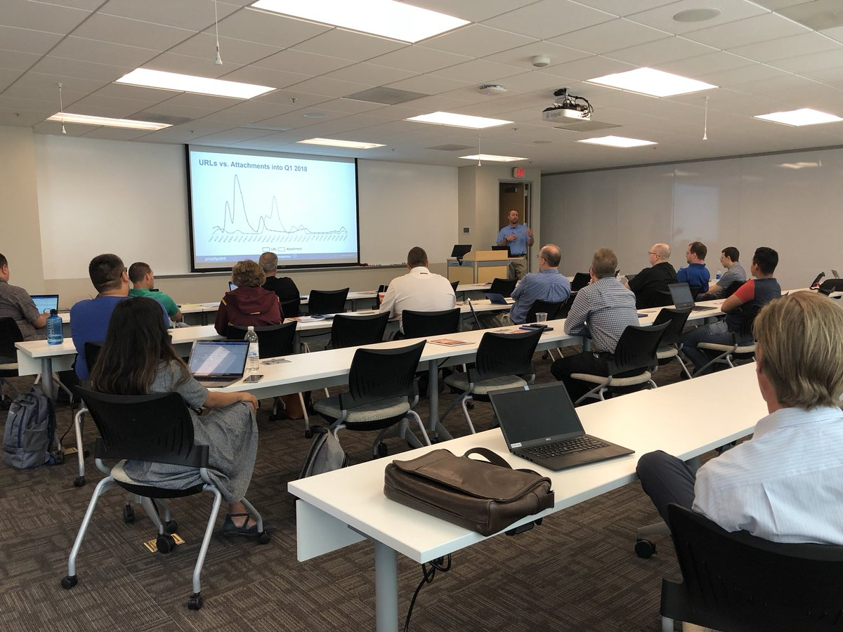 Great turnout today @proofpoint User Group meeting in Phoenix AZ #PeopleCentricSecurity