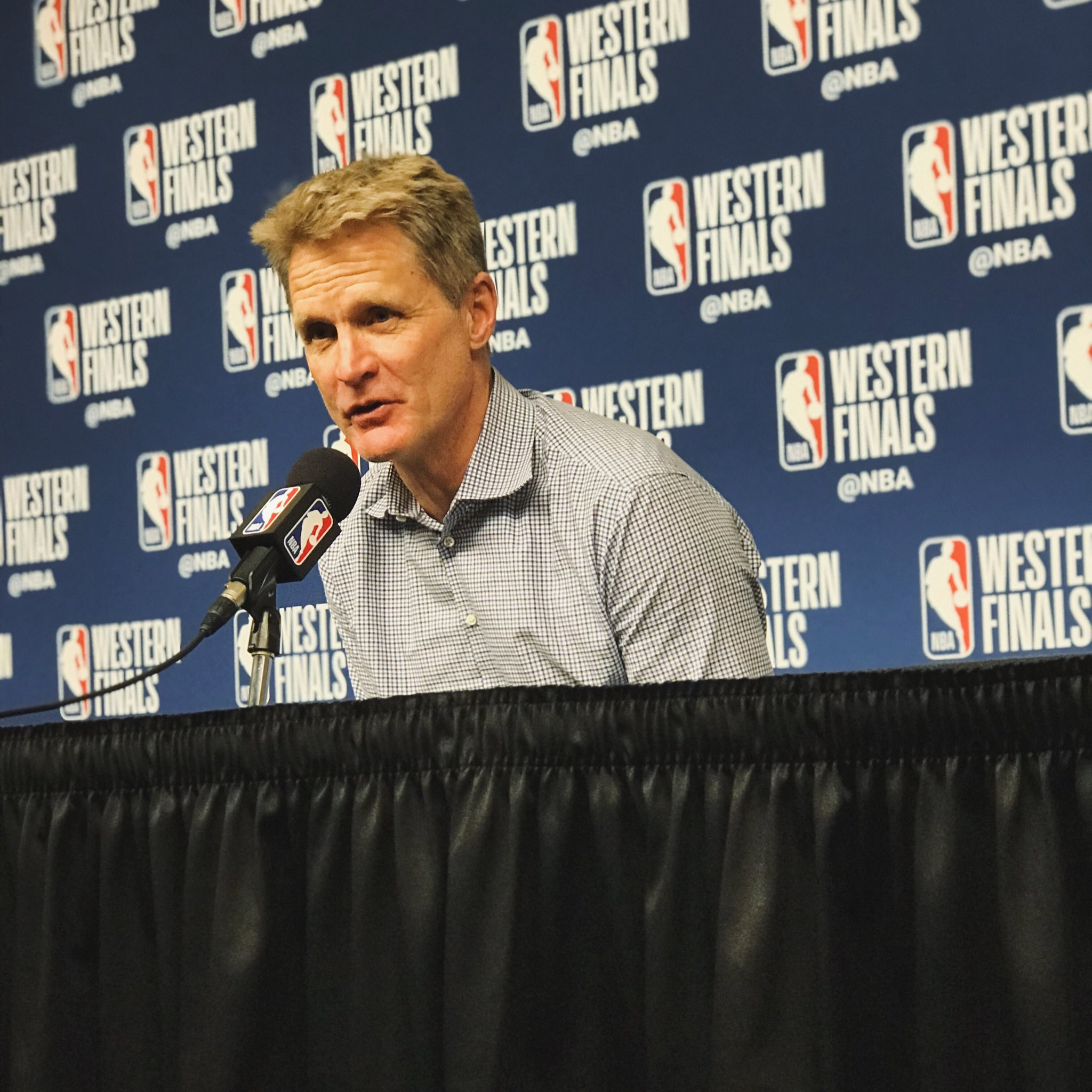 """I'm extremely confident that we're going to take care of business."" - Coach Kerr on Game 6 https://t.co/TYqn8D6rsY"