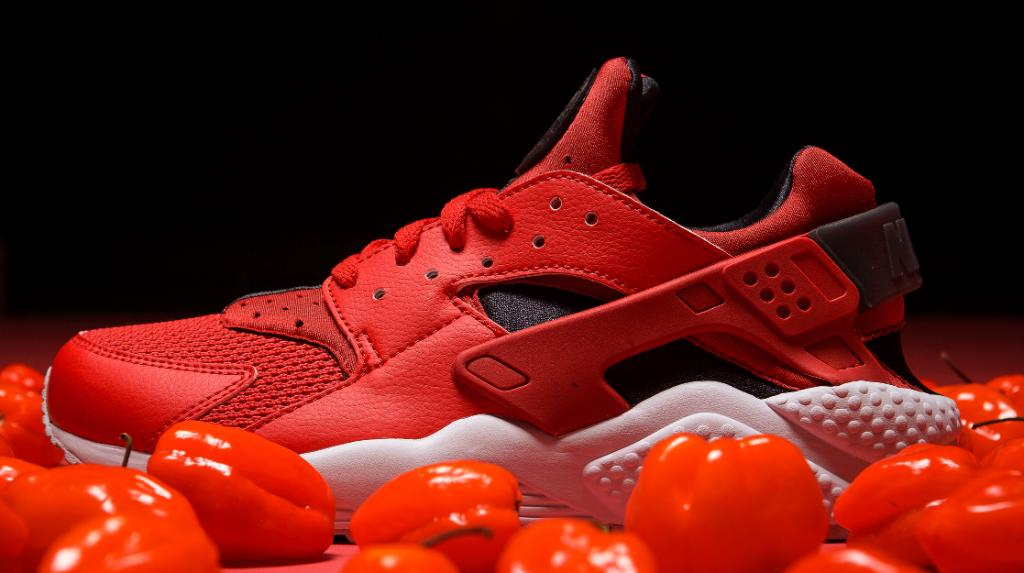 8df4e83b2b415 handle with caution nike huarache habanero red in stores online now shop