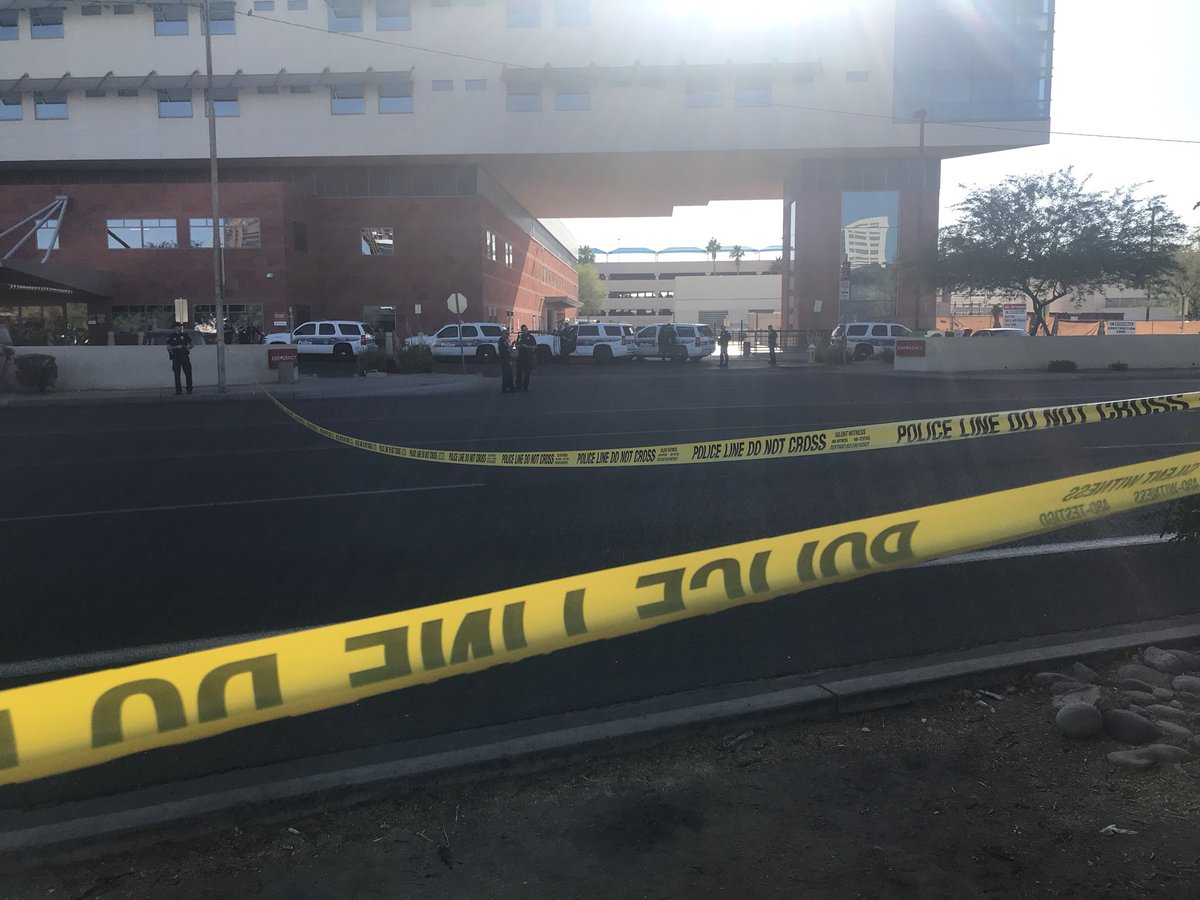 Phoenix officer working hospital security nabs shooter