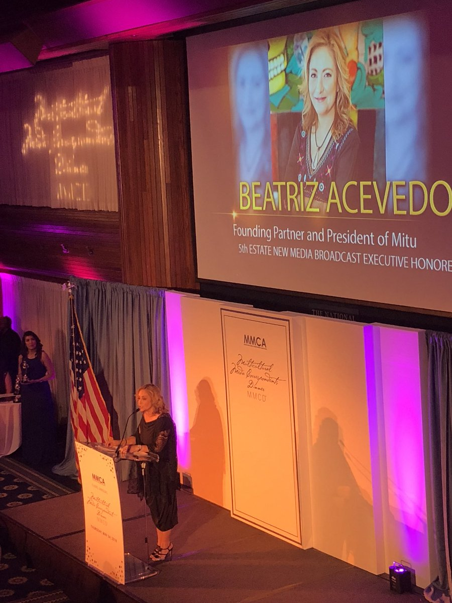 """Diversity is good business"" @Bea_latina - This year's 5th Estate New Media Broadcast Executive Honoree #MMCD<br>http://pic.twitter.com/f8oqummNjt"