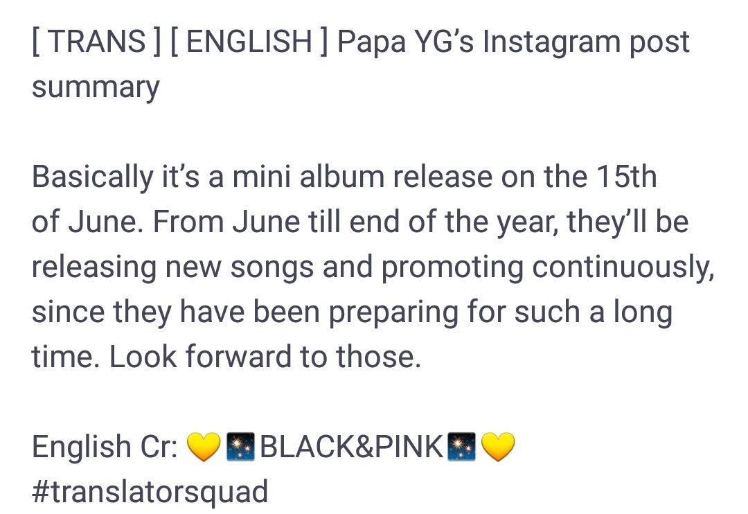YG knows Blackpink do sooo well on digital sales. .so he couldn&#39;t risque a full album and waste the opportunity to make more money from other tracks. ..he is pulling a BIGBANG made Era on BLACKPINK  (all songs were titles almost all had mvs all broke records and sold millions ). <br>http://pic.twitter.com/HwtOfIBTKh