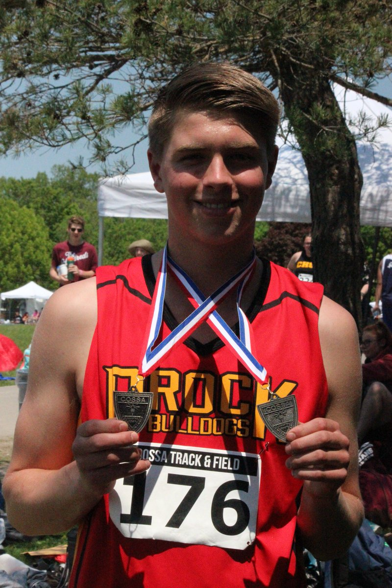 c0b5f08cb11 Mik Wilson wins two silver medals at the COSSA track and field  championships. He moves on to East Regionals in Discus and Shot Put.