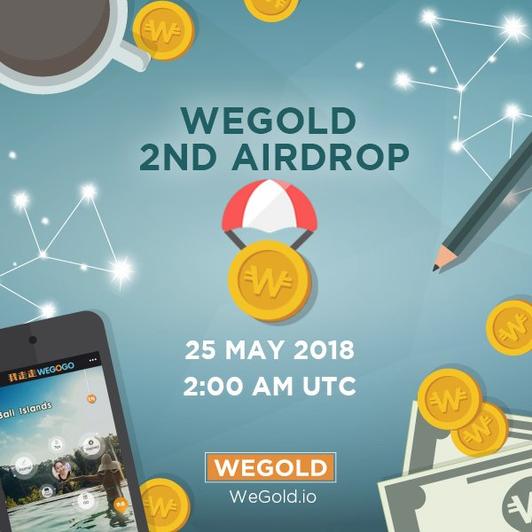 WEGOLD 2ND AIRDROP IS HERE PLUS fun events and FREE 3D2N Dream Island Vacation!  Read more:  https:// medium.com/@WeGoldToken/w egold-2nd-airdrop-for-travel-lovers-2659fb385110 &nbsp; …   #WEGOGO #WeGold #Cryptocurrency #ICO #Blockchain #Travel #Airdrop #Tokens #Crypto #Island #Ethereum #Bitcoin #Fintech #traveltech #Giveaway #Tourism<br>http://pic.twitter.com/V4bzOEOhR2