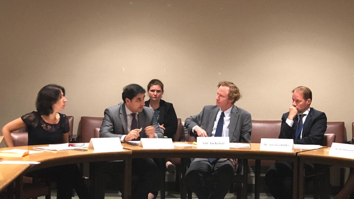 @AfghanMissionUN outlines steps taken by #Afghan Govt to protect civilians and seeks the addressing of root causes of conflicts at an event organized on Data-Driven Protection of Civilians by @AustriaUN , @UNHumanRights , @CivCenter , @UN_Disarmament & @UNOCHA