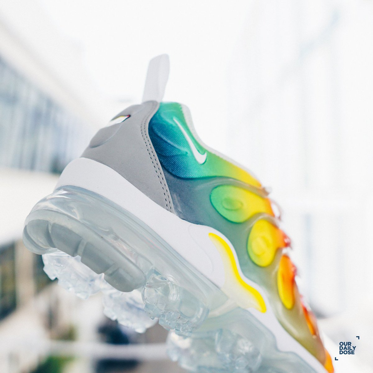 b4fe02f75c7 Nike Air Vapormax Plus - White Neptune Green-Dynamic Yellow is available at  all of ODD stores and webstore http   www.ourdailydose.net .