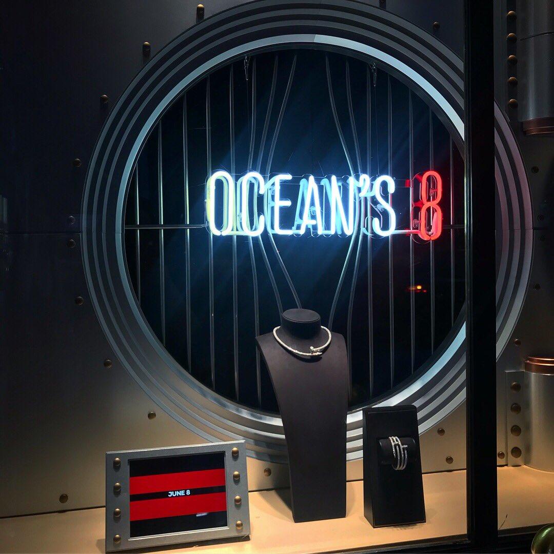An evening with #Oceans8 & @Cartier. #CartierOceans8