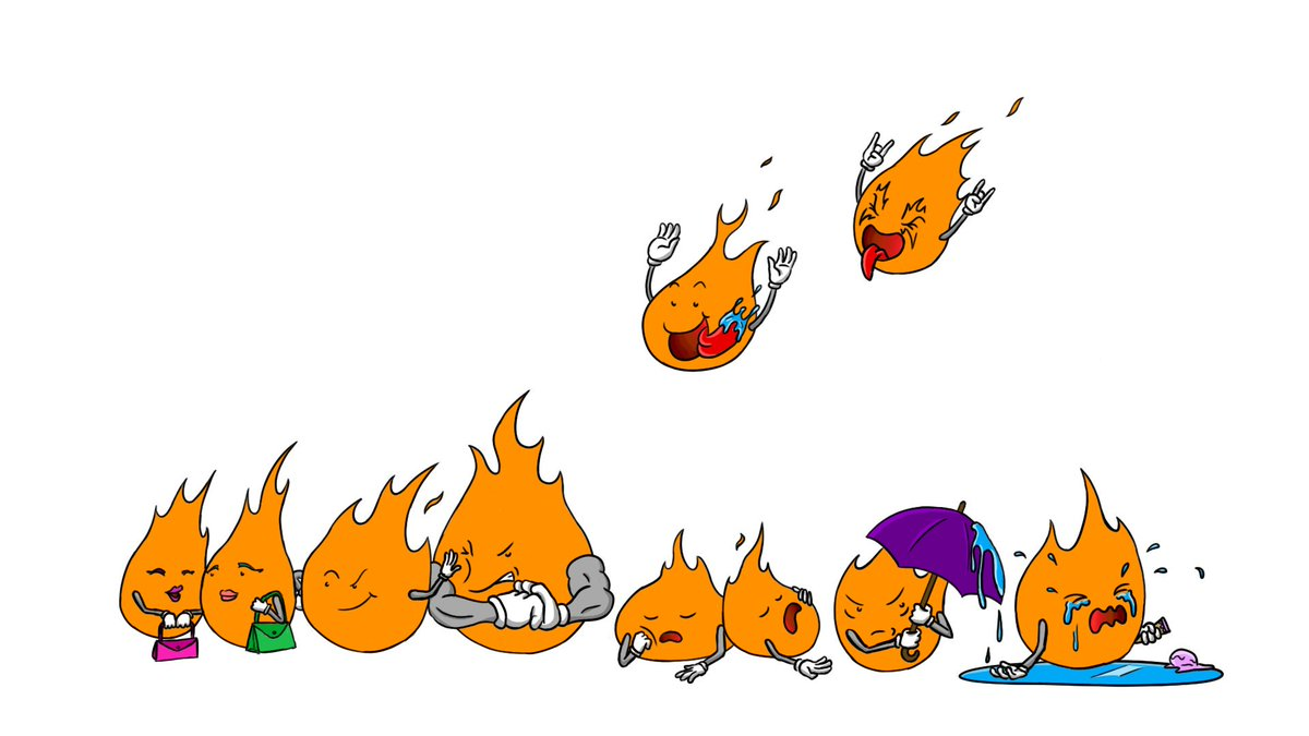 Had a fun #livestream tonight!! Thabks to everyone who hung out!! Here&#39;s what I drew today! Creating these little flaming characters for my channel   #stream #twitch #drawing #fire #characters #branding #smallstreamers <br>http://pic.twitter.com/vRWX178uKg