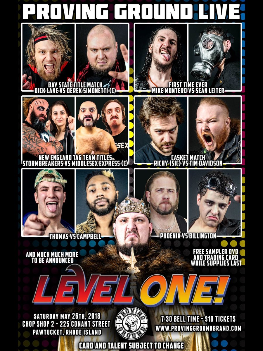 This Saturday at the chop shop in Pawtucket Rhode Island come see the start of something amazing! @ProvingGroundHD presents level one! I will be there live doing the play by play! Help support #indywrestling #WrestlingIsForEveryone #newenglandwrestling<br>http://pic.twitter.com/7RIKetz7wf