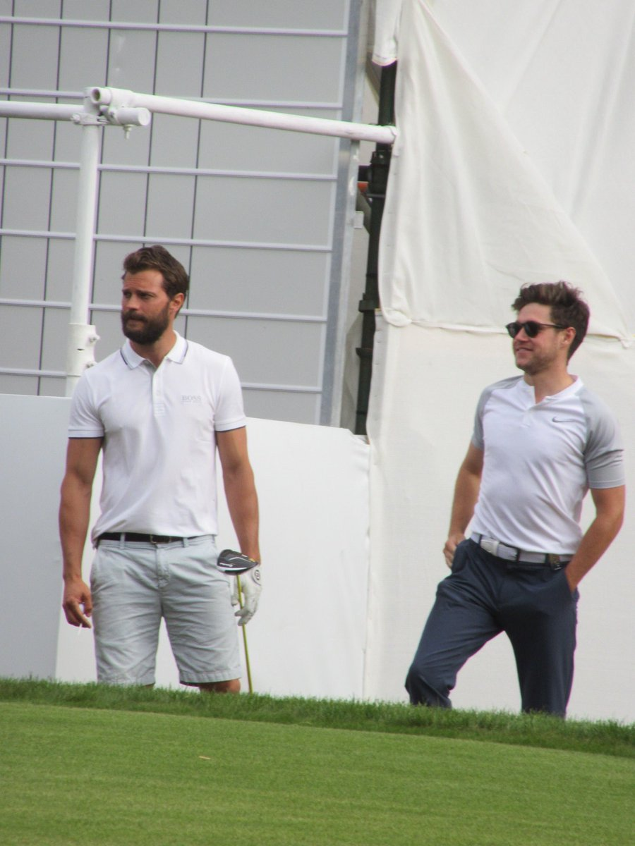 JAMIE DORNAN AND NIALL HORAN PLAYING GOLF TOGETHER   #50shadesofDorniall<br>http://pic.twitter.com/rSQGYIOryx