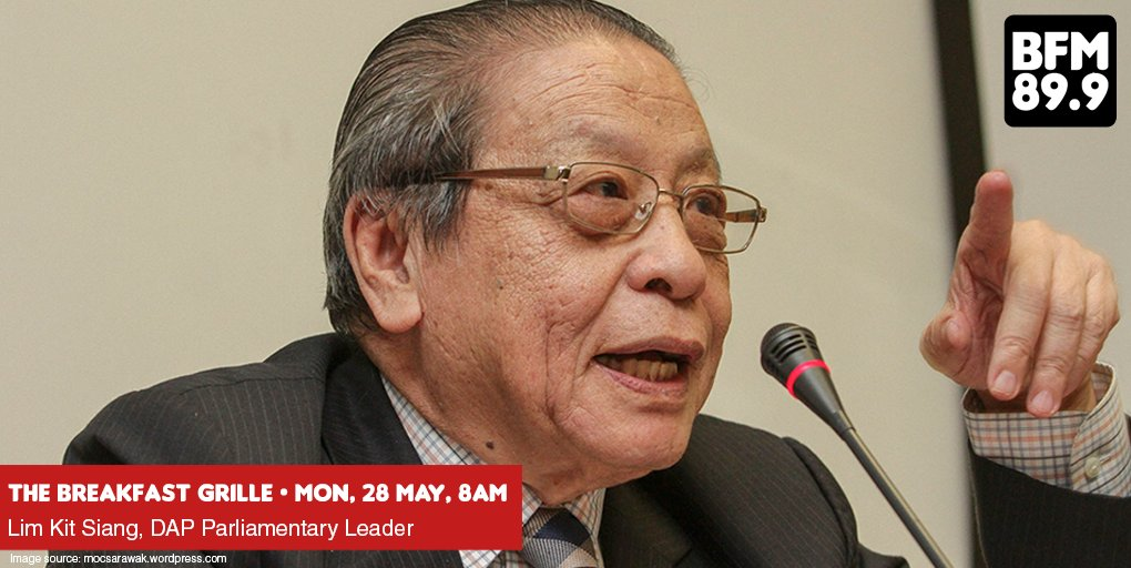 We have some exciting news! @dapmalaysia parliamentary leader @limkitsiang will be LIVE ON AIR on MONDAY 28 MAY, 8AM! Tune in to BFM 89.9 to catch him discuss about the political landscape post-GE14 and his role in the administration. Don&#39;t miss this juicy interview! #GE14 <br>http://pic.twitter.com/9CJlWwwXeg