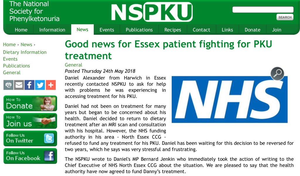 Fight for #PKU treatment is successful for Daniel in Essex who has had a 2 year struggle.   Read more:  http://www. nspku.org/news/story/goo d-news-essex-patient-fighting-pku-treatment &nbsp; … <br>http://pic.twitter.com/rbsifboB7a