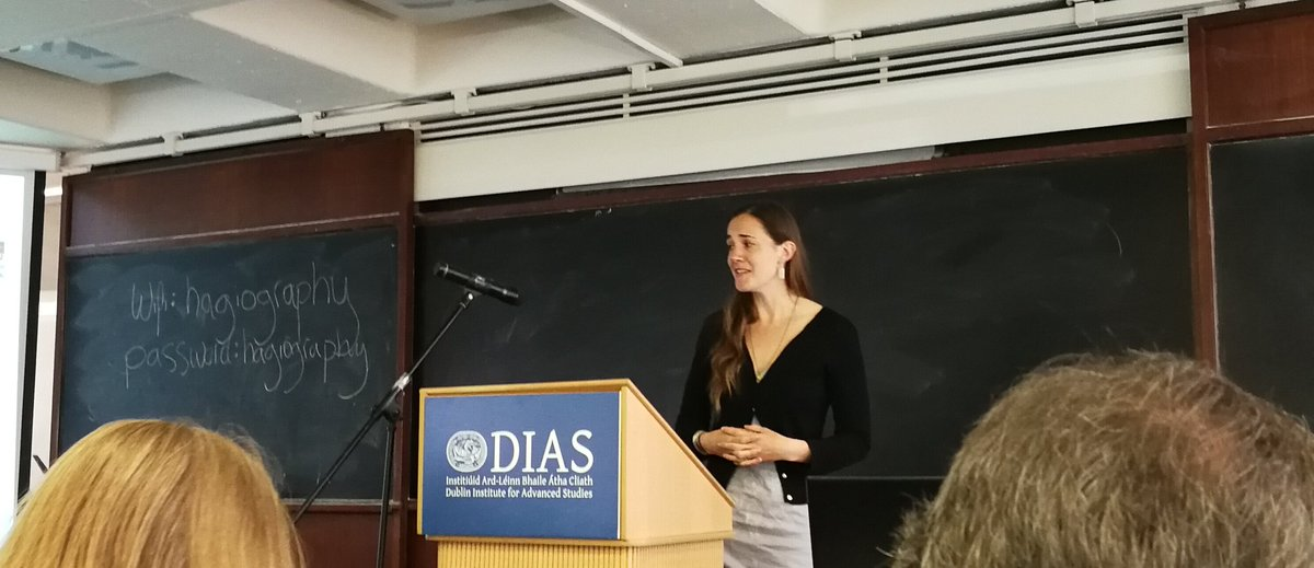 test Twitter Media - RT @thecelticist: Dr Sarah Waidler kicks off the DIAS Celtic hagiography conference! @SCSLibrary @DIAS_Dublin https://t.co/u4rXhO28KW