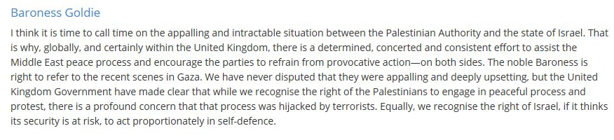 """UK govt is now completely supporting the Israel line on Gaza killings, claiming protests were """"hijacked by terrorists"""" and recognising Israel's right """"to act proportionately in self-defence"""". Self defence! goo.gl/RL573A"""