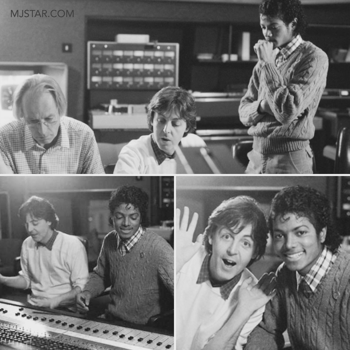 Celebrating The Life Of Michael Jackson On Twitter King Pop And Paul McCartney In Studio With Beatles Producer Sir George