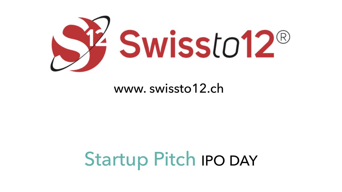 Pitching on stage at #IPODAY2018, 13.06.2018 in #Lausanne: The #Startup SWISSto12:   http://www. swissto12.ch  &nbsp;   #DeepTech #3Dprinting #radiofrequency #lightweight #Innovation  REGISTER NOW @:  https:// ipoday.ch/project/lausan ne-2018/ &nbsp; …  @startuptickerCH @S_S_F  @JPVuilleumier @chilicon_valley<br>http://pic.twitter.com/TFsSstYNNI