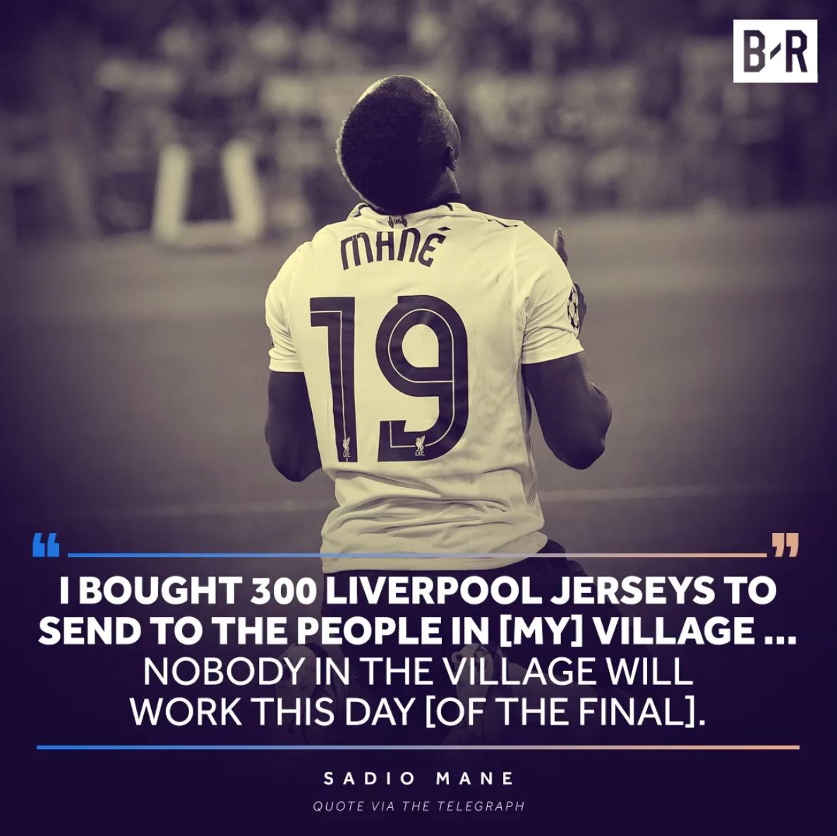 Sadio Mane has sent 300 Liverpool shirts to his village in Senegal ahead of the Champions League final 🇸🇳🙌