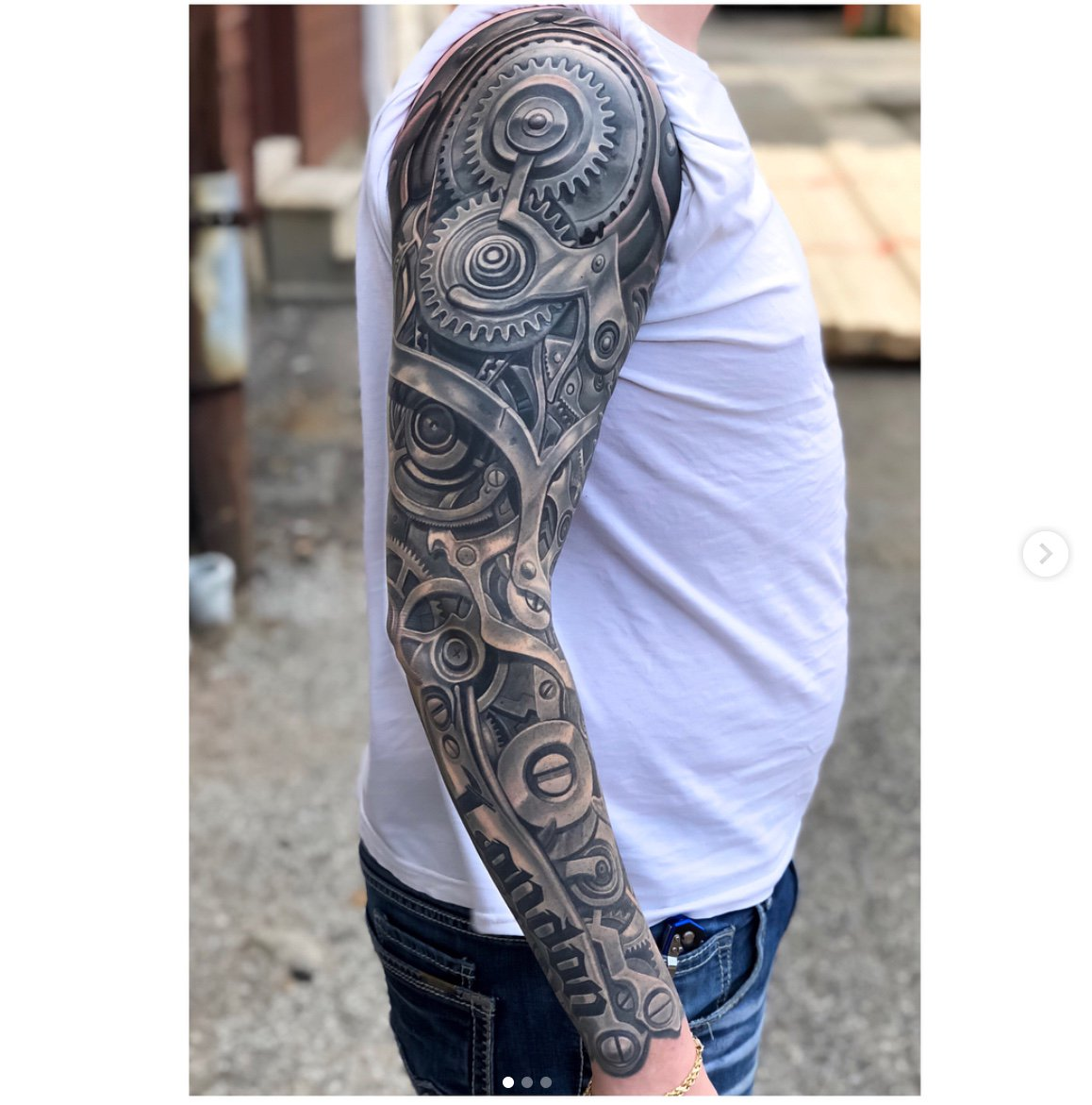 #Tattoo Awesome of the Day: #Steampunk Mechanism with Cogs & Gears Full Sleeve Piece by @TimothyBoor via @PainfulPleasure #SamaTattoo