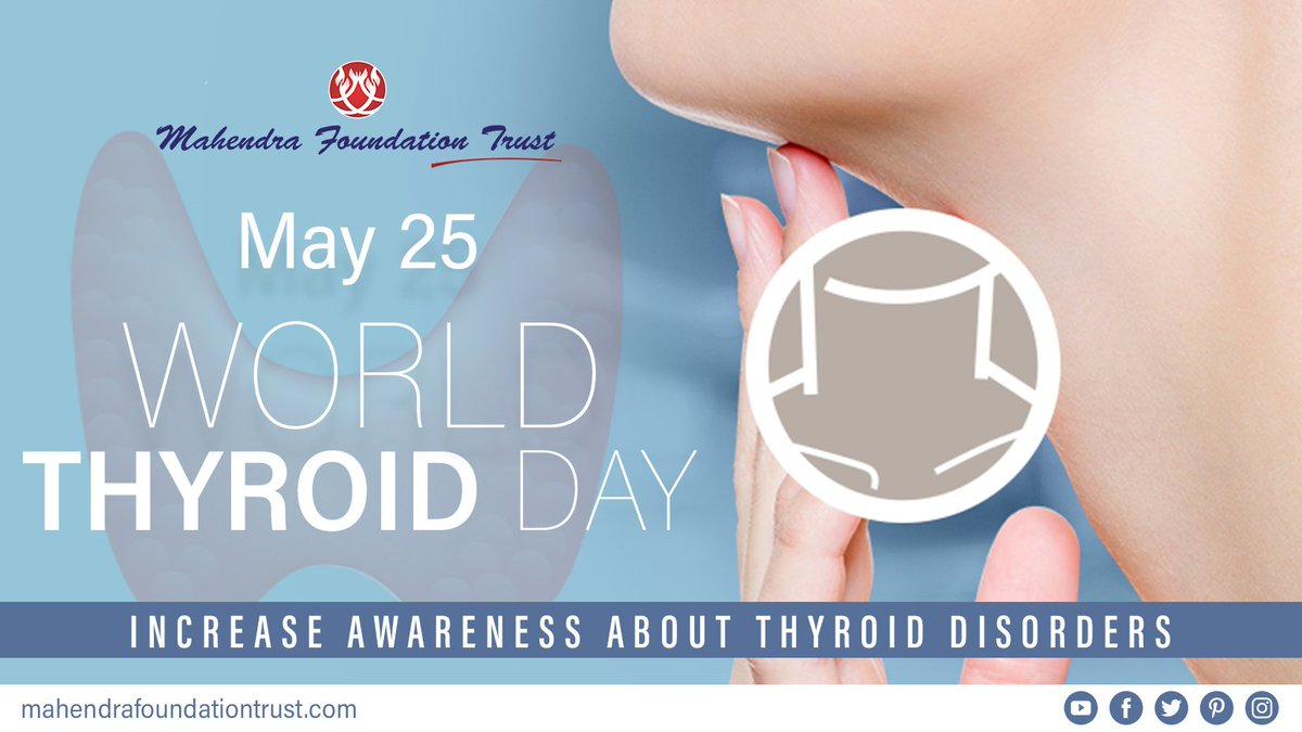 On #WorldThyroidDay let&#39;s join hands to support #Thyroid awareness around the world.  #HealthyLife #HealthForAll #AyushmanBharat #StayHealthy #WorldThyroidDay<br>http://pic.twitter.com/oaVcXnsGcY