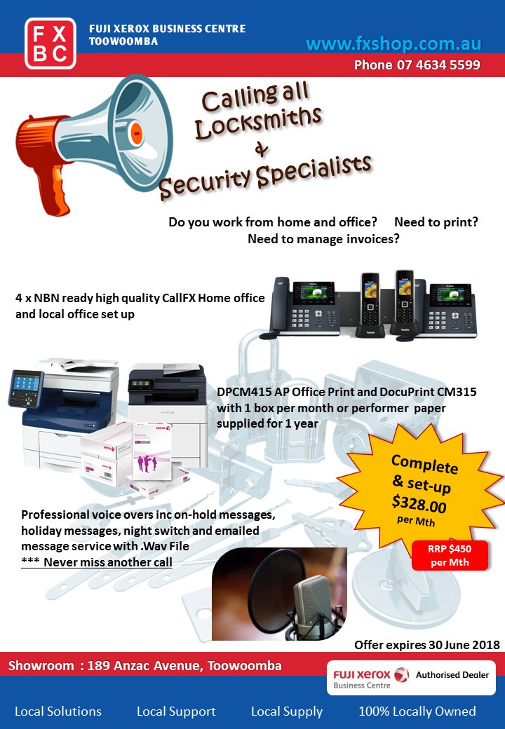 Fuji Xerox Business Centre Has The Specials For You Call 07 4634 5599 Locksmith Toowoomba Security Locks Keys Safe Twitter