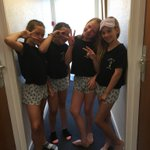 It's like a Hen Party here with our matching PJs!!