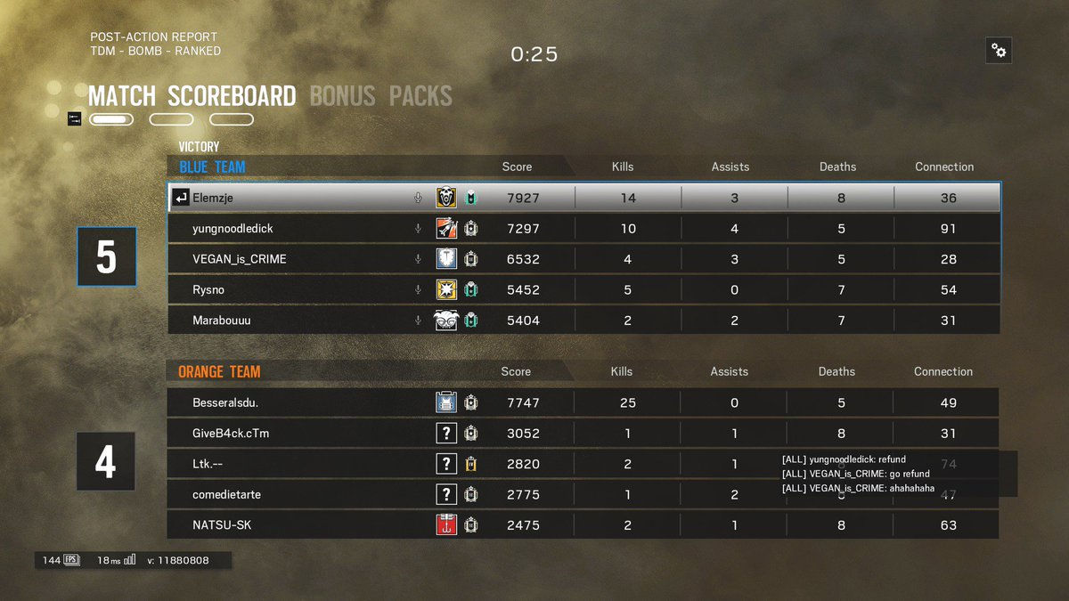 "what a great way to start the day by destroying a cheater. btw @Rainbow6Game @UbiJustin @JSomville please ban, uplay : ""Besseralsdu."" pic.twitter.com/u3XqFqB1qp"