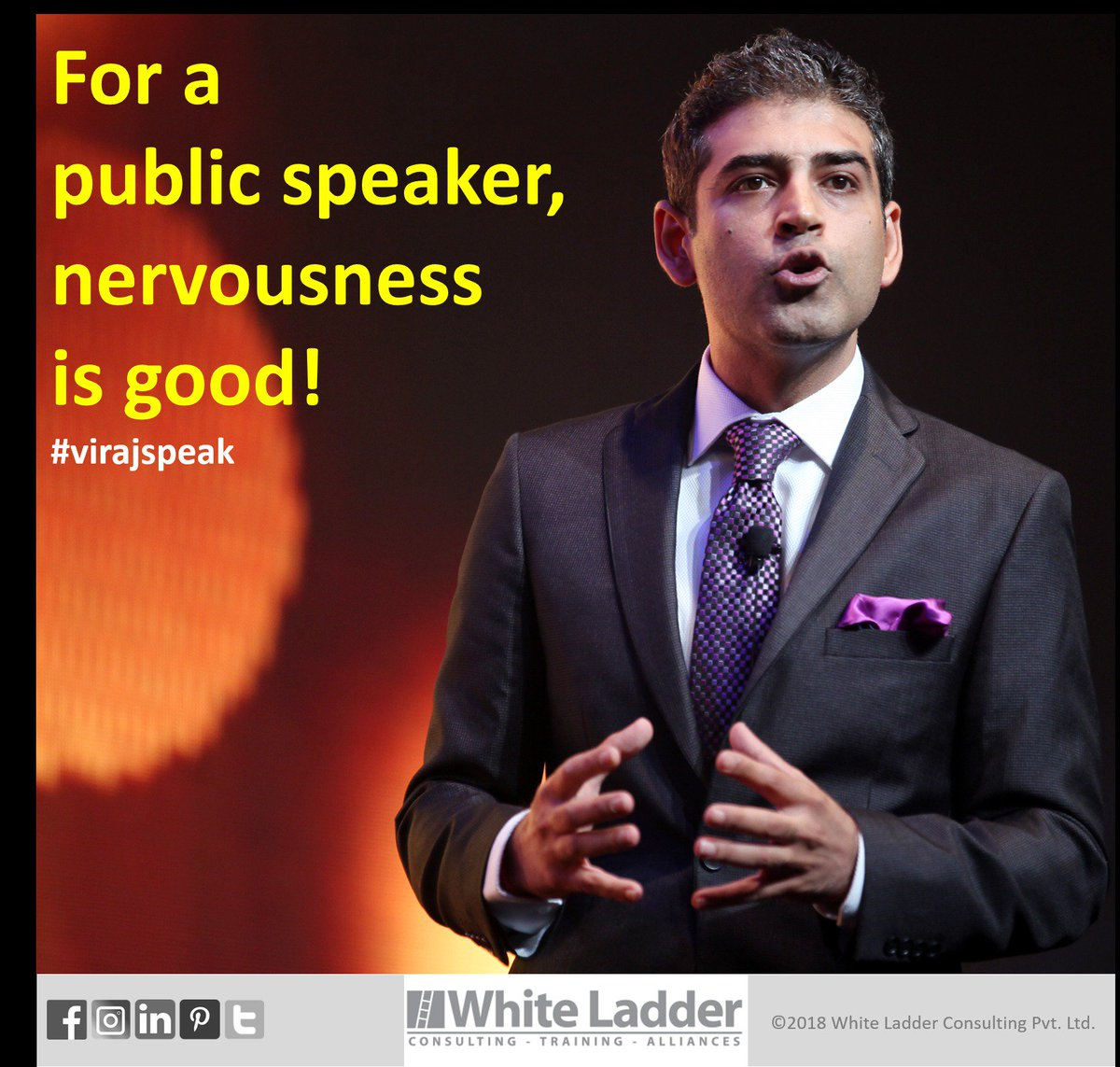 It is good to be a little nervous before a #publicspeaking engagement. It is this feeling that will keep you from being overconfident and ensuring you do your research, prep and practice. Welcome this nervousness and channel it to your advantage! #virajspeak<br>http://pic.twitter.com/uaw97w1Tyf