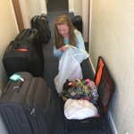 Oops - Emily has packed so well, she has no shoes to wear! Oops!