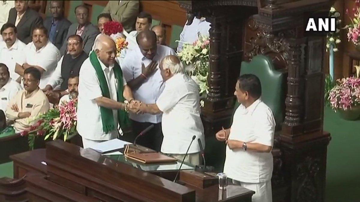Congress' Ramesh Kumar elected as Speaker of #Karnataka Assembly.
