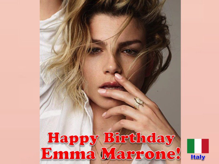 Happy 34th Birthday to Italian singer #EmmaMarrone! @MarroneEmma  ❤️🇮🇹🎶🎸🎹🎤🎂🎉🎁🎈💐🌟🎇