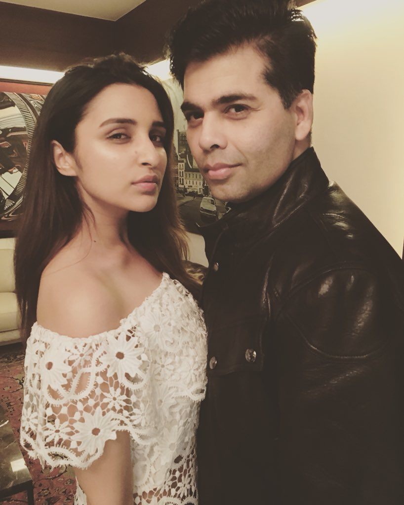 Throwback to the day you taught me how to pout!! But ive learnt so much more from you Karan. Happpy happpy bday!!! They really dont make humans like you anymore .. ❤️❤️❤️ @karanjohar