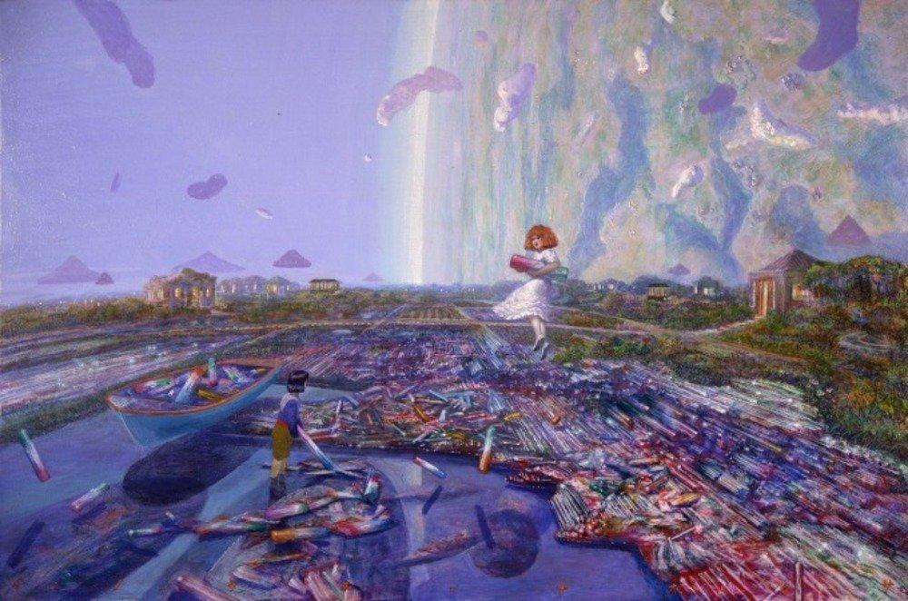 『耳をすませば』背景画家・井上直久の個展が大阪・阪急うめだ本店で - 初期から最新の大作まで -