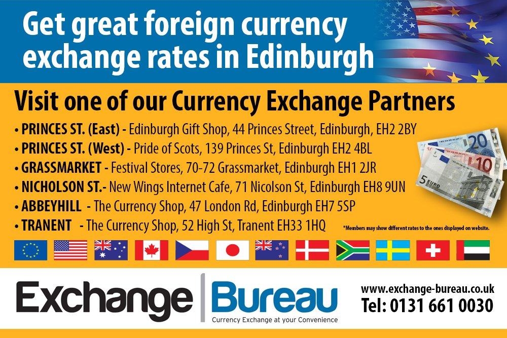 Get Fantastic Exchange Rates In Edinburgh For Ing And Travel Money 0 Commission No Fee Charges Just Great