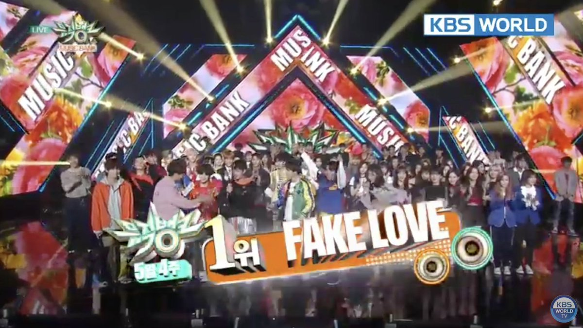 """WATCH: #BTS Grabs 1st Win With """"Fake Love"""" On """"Music Bank""""  #FAKELOVE1stWin"""