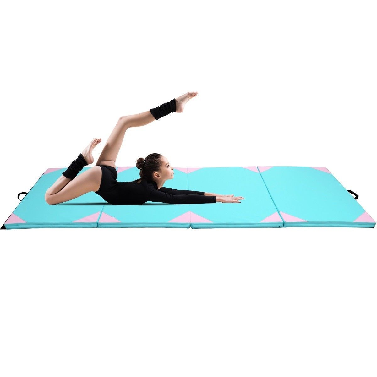 roll home vinyl x carpet out mat workout ft mats products blue fitness work inch large cheer