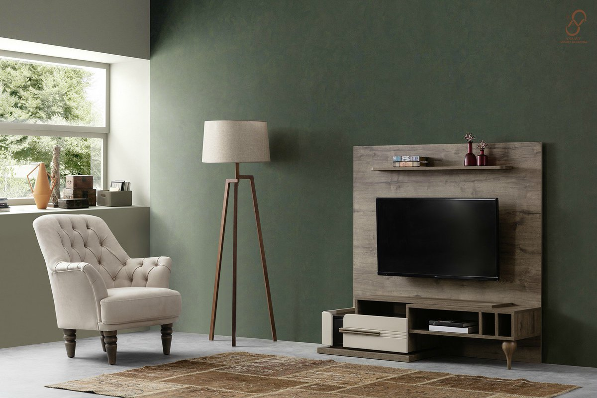 Ansavv Inc On Twitter Contemporary Turkish Suede Chair With A Wooden Table And An Intricately Designed Console Coordinated With The Tv Console And A Designer Tv Unit On Top Of The Console