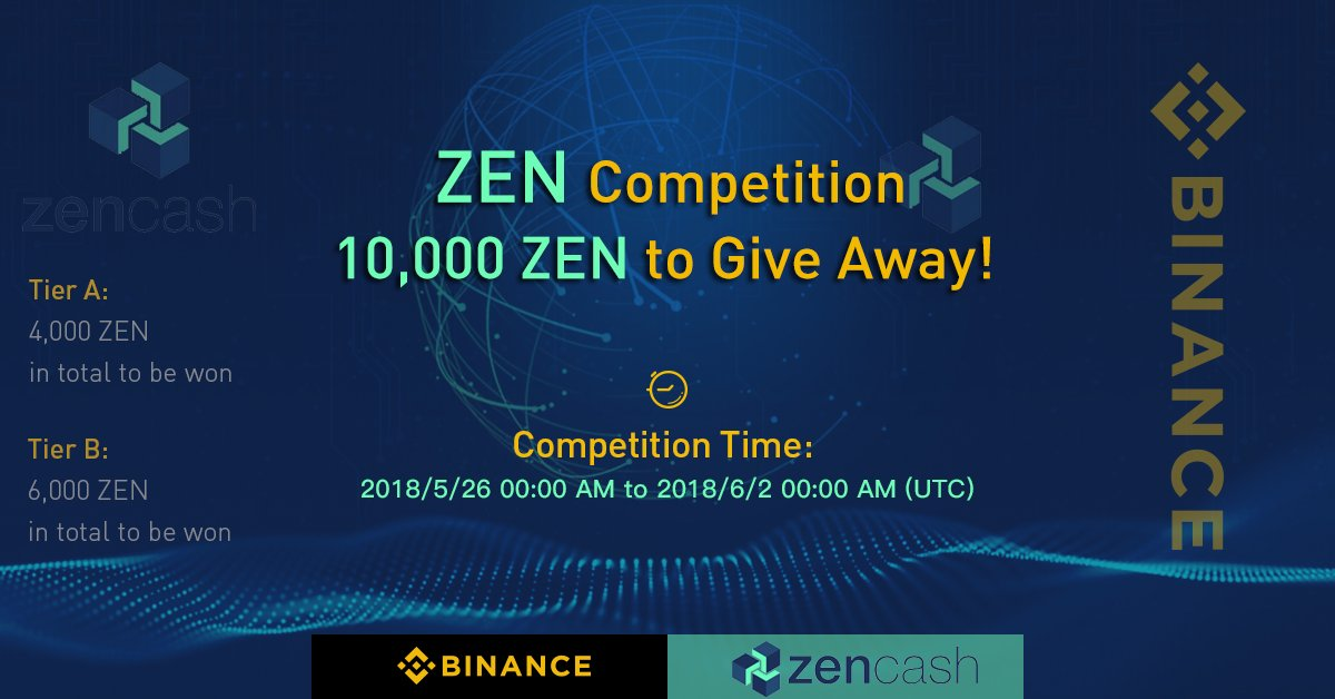 The party is not over yet! ZenCash has just been listed on #Binance, and we are giving away 10K $ZEN to our fans around the world! Don't miss out!