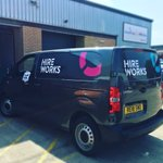 Image for the Tweet beginning: New Hireworks branded vans making