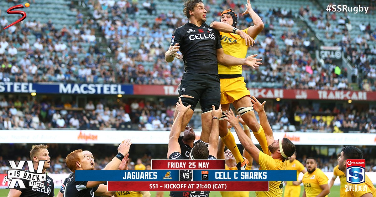 The Sharks travel to Argentina in their #SuperRugby clash against an in form Jaguares sides.