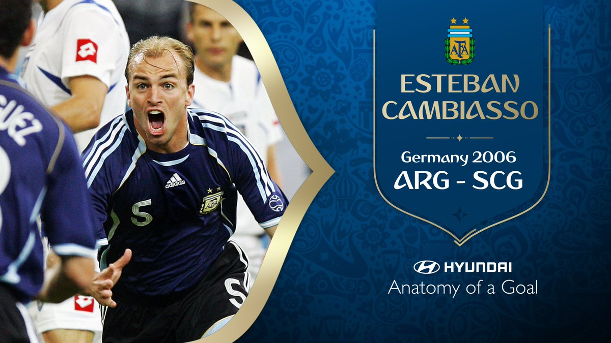 🇦🇷🇦🇷🇦🇷🇦🇷 Looking back at one of the great team goals in #WorldCup history 🙌 Whats the story behind Esteban Cambiassos goal for @Argentina at Germany 2006? Find out with @Hyundai_Globals Anatomy of a Goal ⚽️ More 👉 fifa.to/e/7pBviFteeN