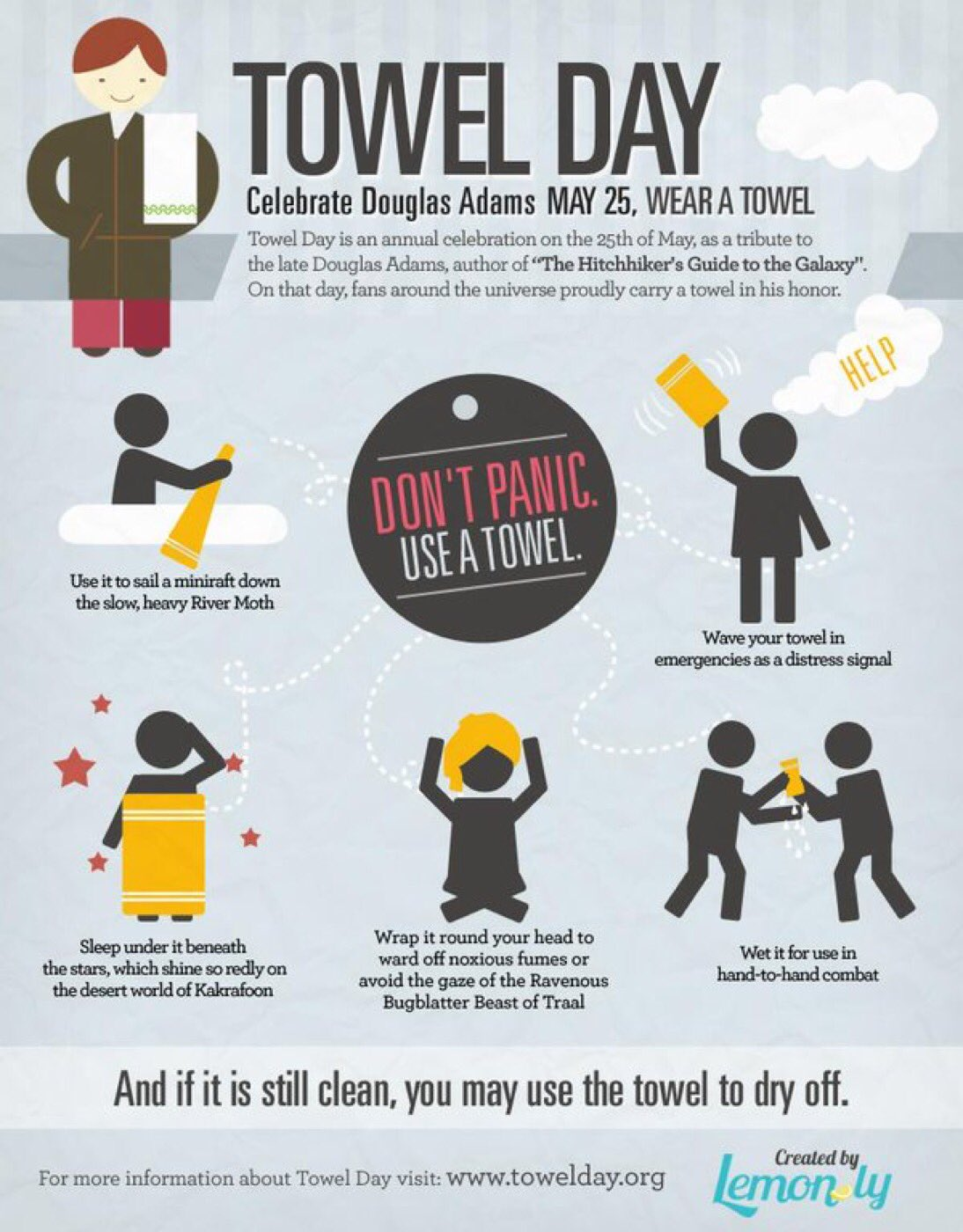 Happy #TowelDay world, galaxy and cosmos https://t.co/3ZbwCmneEg