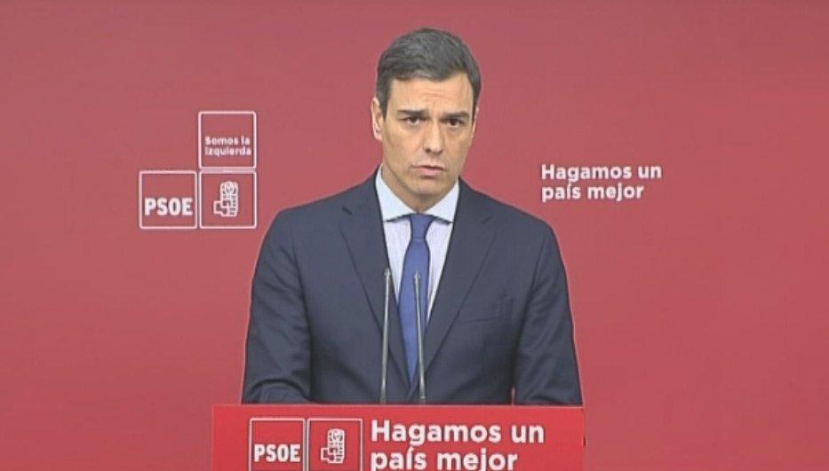 DIRECTO   @sanchezcastejon: 'La moción de censura será para convocar elecciones pero antes hay que recuperar la normalidad'   https://t.co/FTc9j5cUZ0