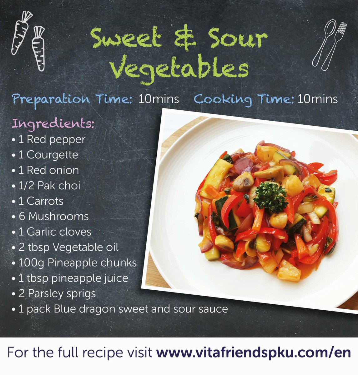 It&#39;s the weekend! And it&#39;s not just any old weekend. It&#39;s Bank Holiday Weekend! It doesn&#39;t matter if the weather is sweet or sour, we&#39;ve got the perfect Chinese Fakeaway to celebrate! Our brand new Sweet and Sour Vegetables recipe is here:  https://www. vitafriendspku.com/en/recipes/low -protein-sweet-and-sour/ &nbsp; …  #pkurecipes #pku <br>http://pic.twitter.com/kU4ATUbfeE
