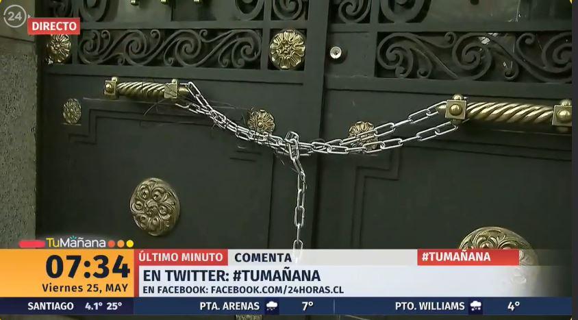 ⭕ #AHORA24H   Manifestantes se toman la casa central de la Universidad Católica #TuMañana https://t.co/FwNffB8fvG